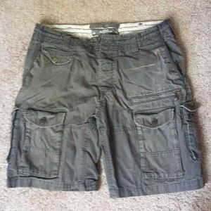 H&M Gray Cargo Shorts 32